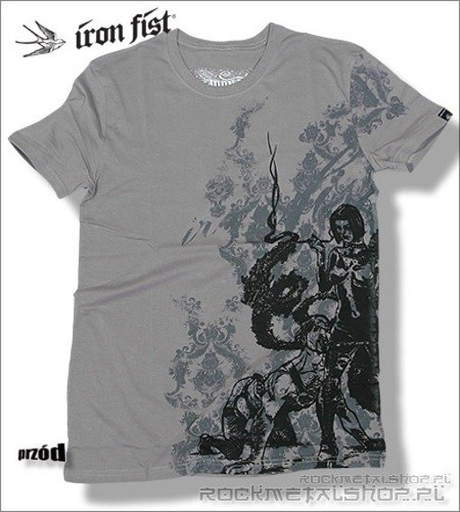 koszulka IRON FIST '09 (Life on a leash) (Clouburst grey)