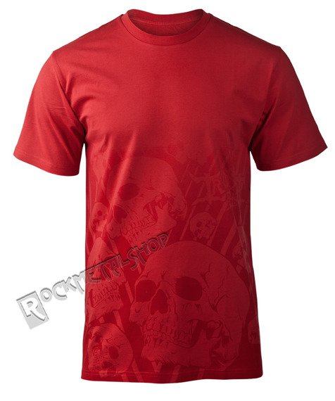 koszulka IRON FIST - FADED SKULL (CHILI RED)