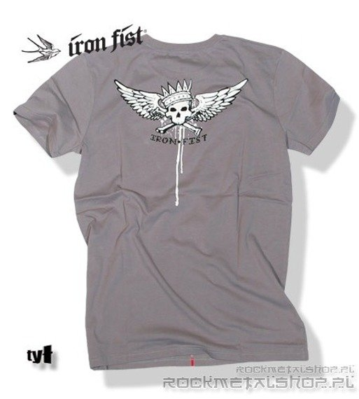 koszulka IRON FIST - HORNED EAGLE (Cloudburst grey)