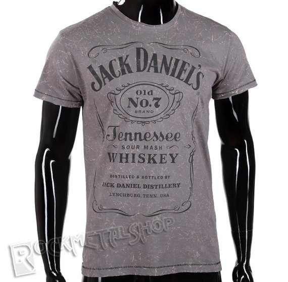 koszulka JACK DANIELS - ACID WASHED VINTAGE GREY