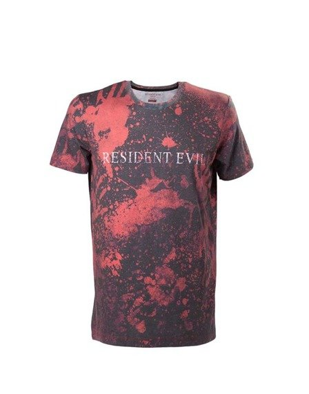 koszulka RESIDENT EVIL - BLOODY T-SHIRT WITH RAISED RESIDENT EVIL LOGO
