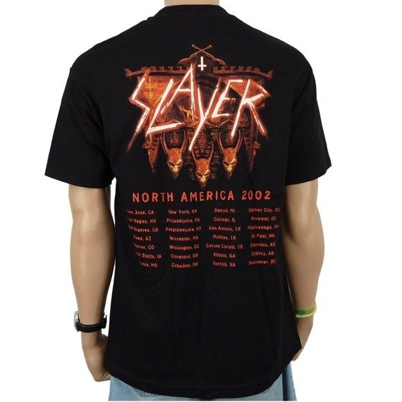 koszulka SLAYER - BAND NORTH AMERICA 2002