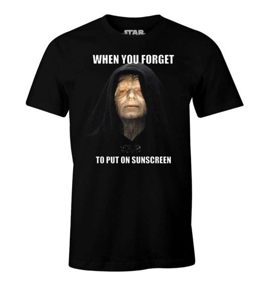 koszulka STAR WARS - FORGET TO PUT ON SUNSCREEN czarna