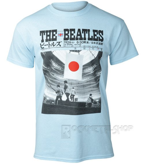 koszulka THE BEATLES - AT THE BUDOKAN blue