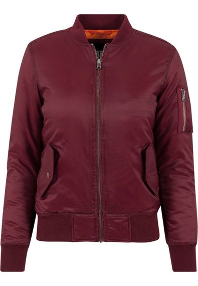 kurtka damska flyers LADIES BASIC BOMBER burgundy