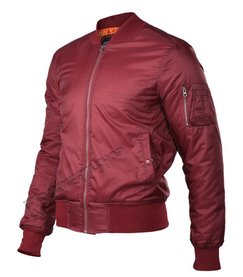 kurtka flyers BASIC BOMBER JACKET bordeaux