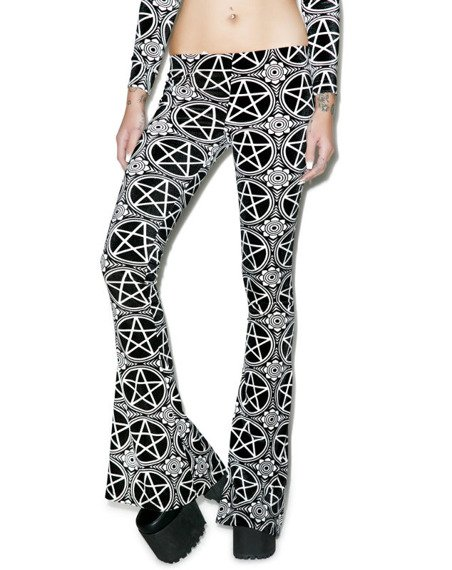 legginsy dzwony KILL STAR - PENTAGRAM