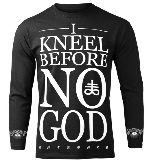 longsleeve AMENOMEN - I KNEEL BEFORE NO GOD (OMEN108LO)