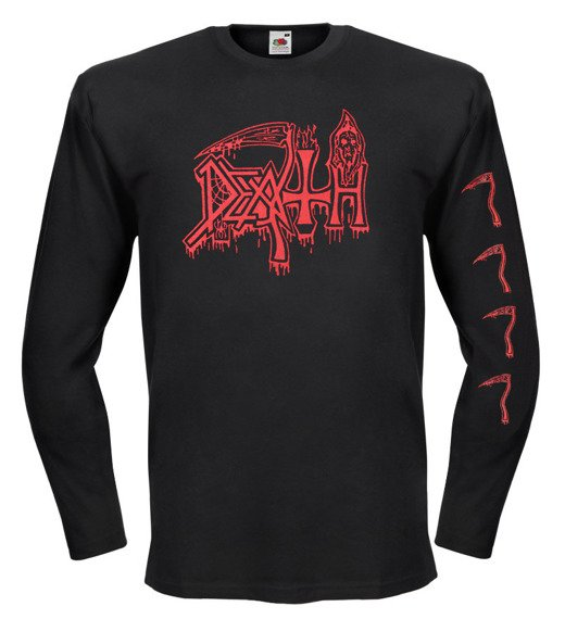 longsleeve DEATH - OLD LOGO RED