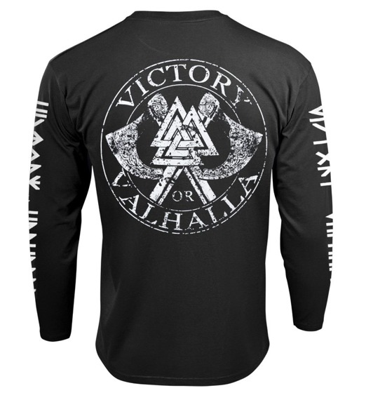 longsleeve VICTORY OR VALHALLA - GODS AND RUNES