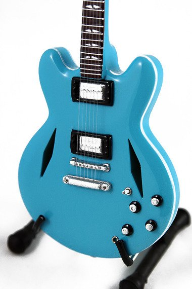 miniaturka gitary FOO FIGHTERS - DAVE GROHL: DG-335 BLUE