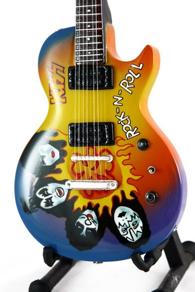 miniaturka gitary KISS -  LES PAUL ROCK 'N' ROLL