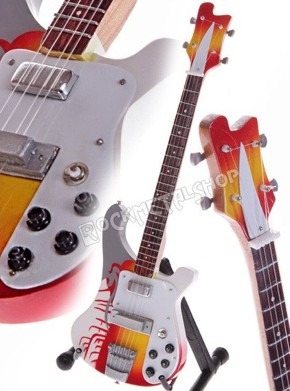 miniaturka gitary THE BEATLES - PAUL MCCARTNEY: RICKENBACKER PSYCHEDELIC BASS