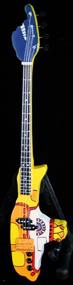 miniaturka gitary basowej THE BEATLES - YELLOW SUBMARINE BASS TRIBUTE