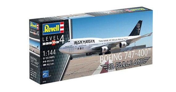 model do sklejania IRON MAIDEN - BOEING 747 - 400 ED FORCE ONE BOOK OF SOULS TOUR