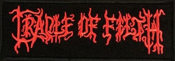naszywka CRADLE OF FILTH - RED