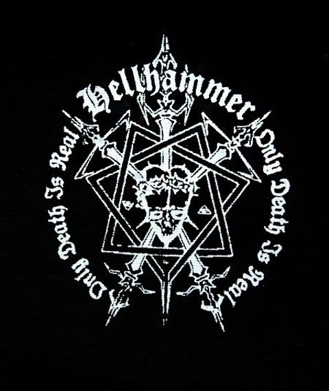 naszywka HELLHAMMER - ONLY DEATH IS REAL