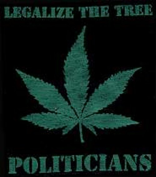 naszywka LEGALIZE THE TREE POLITICIANS