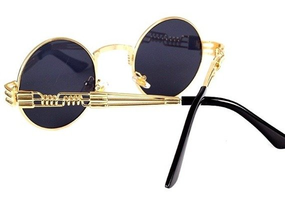 okulary LENONKI STEAMPUNK RETRO GOLD BLACK
