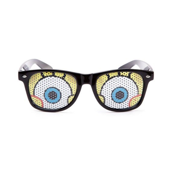 okulary NUNETTES - SPONGEBOB BLACK SUNGLASSES CLASSIC