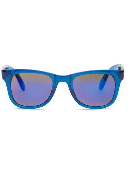 okulary VANS - FOLDABLE SPICOLI TRANSPARENT CLASSIC BLUE