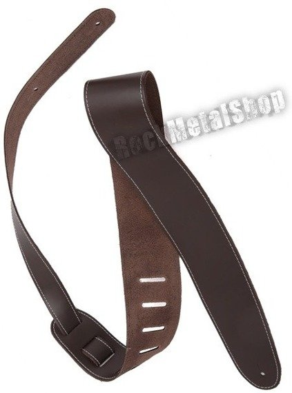pas do gitary PLANET WAVES - DELUXE LEATHER: CONTRAST STITCH - BROWN (25L-LS01-DX)