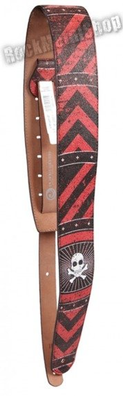 pas do gitary PLANET WAVES - STONED LEATHER SERIES: BLOOD STRIPS (25STL05)