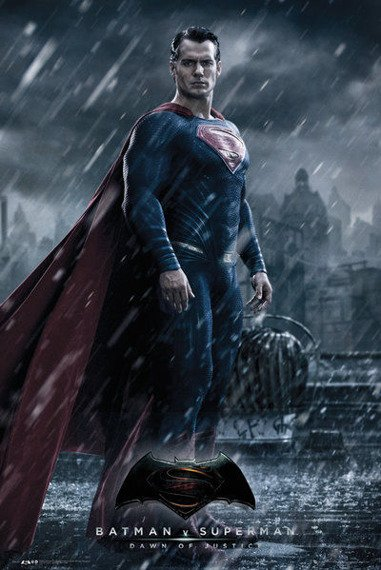 plakat BATMAN VS SUPERMAN - SUPERMAN