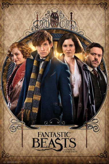 plakat FANTASTIC BEASTS - GROUP FRAME