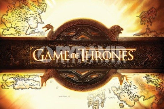 plakat GAME OF THRONES - LOGO