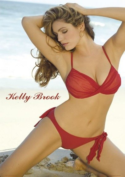 plakat KELLY BROOK - RED BIKINI