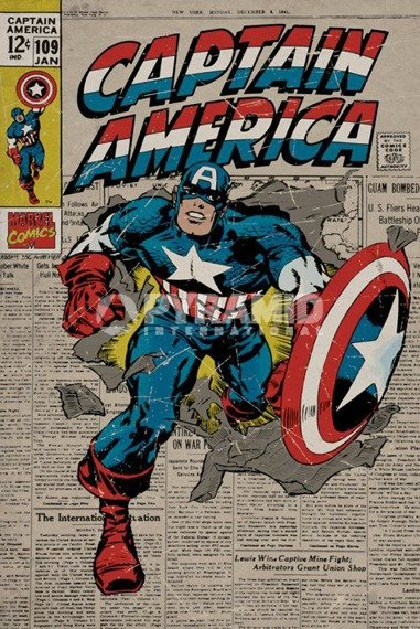 plakat MARVEL - CAPTAIN AMERICA RETRO