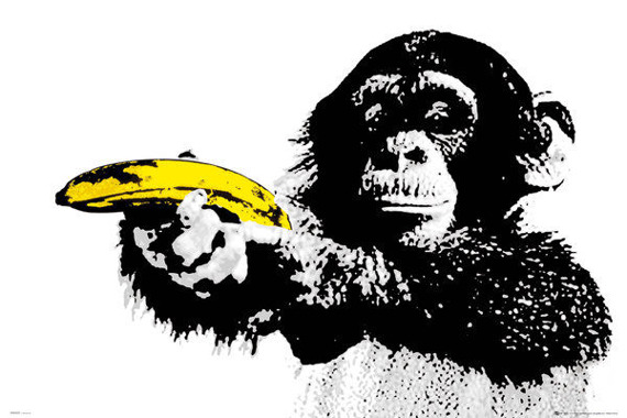 plakat MONKEY - BANANA