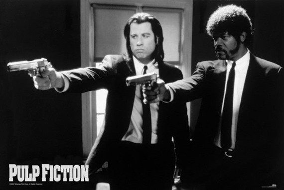plakat PULP FICTION - B&W GUNS