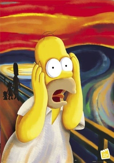 plakat SIMPSONS - SCREAM