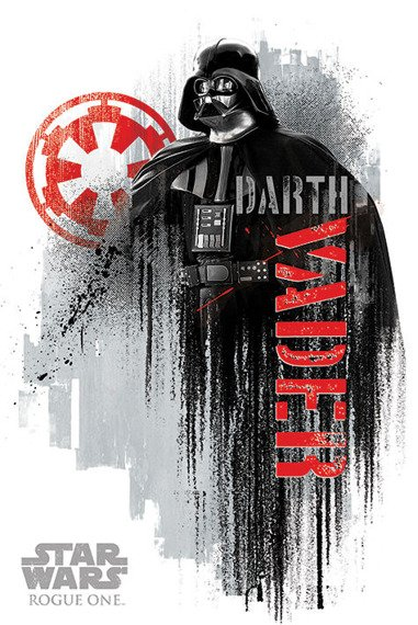 plakat STAR WARS - DARTH VADER GRUNGE