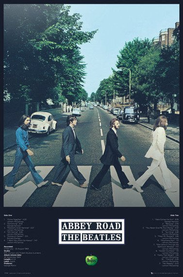 plakat THE BEATLES - ABBEY ROAD TRACKS