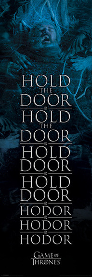 plakat na drzwi GAME OF THRONES - HOLD THE DOOR