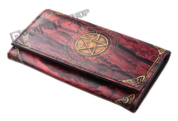portmonetka PURSE PENTAGRAM RED