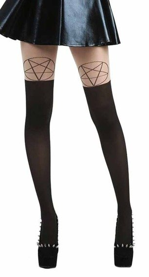 rajstopy PENTAGRAM OTK TIGHTS NUDE/BLACK