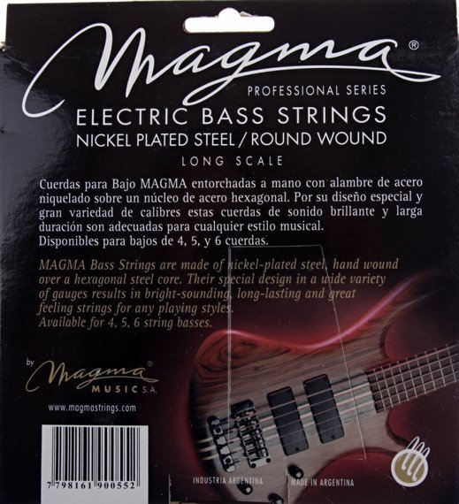 struny do gitary basowej MAGMA BE130N Nickel Plated / Extra Light /040-095/