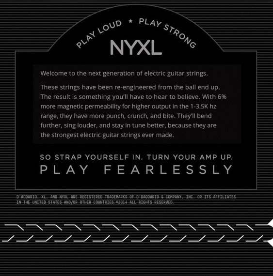 struny do gitary elektrycznej D'ADDARIO NYXL0946 Light with Reg. Bottom /009-046/