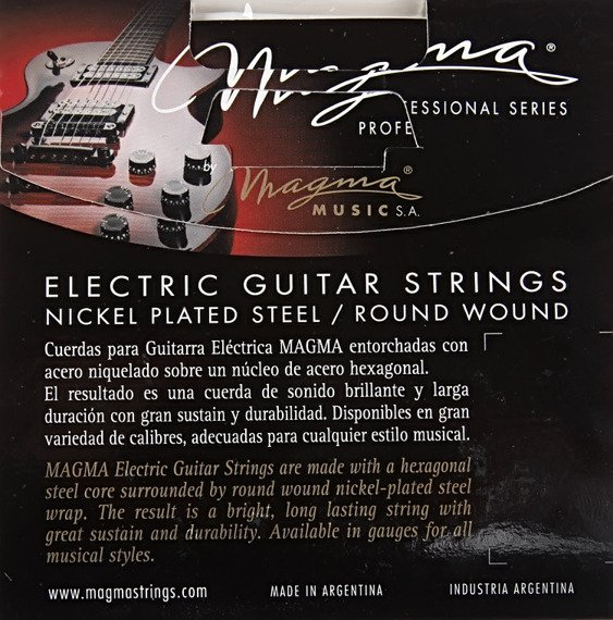 struny do gitary elektrycznej MAGMA GE160N Nickel Plated / Medium /011-050/