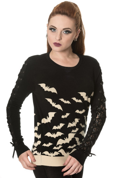 sweter BANNED - HAUNTED DIVA KNIT