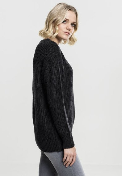 sweter LADIES BASIC CREW SWEATER black
