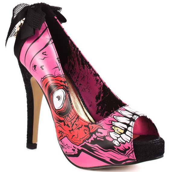 szpilki IRON FIST - GOLD DIGGER ZOMBIE STOMPER (PINK)