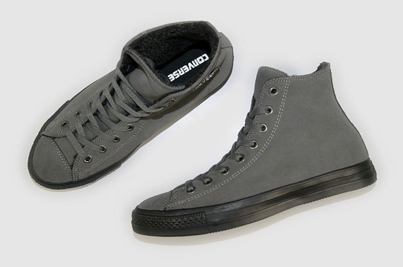 trampki CONVERSE CHUCK TAYLOR  - CT LEATHER HI ,ocieplane (CHARCOAL/BLACK)