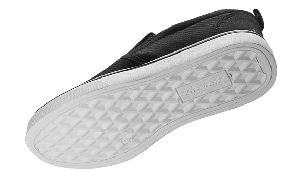 trampki SOUTHHAMPTON SLIP ON SNEAKER black/white