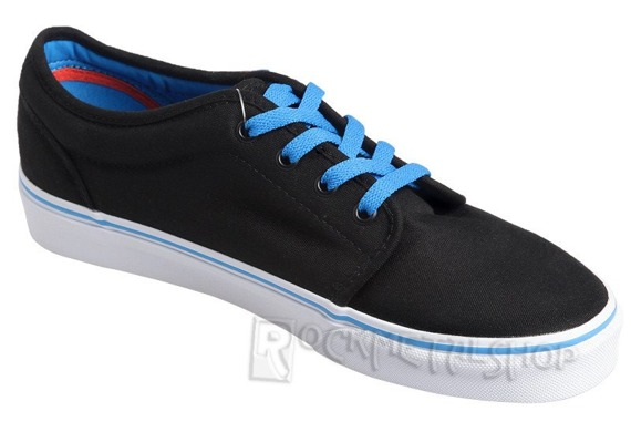 trampki VANS - 106 VULCANIZED POP BLACK BRILLIANT BLUE