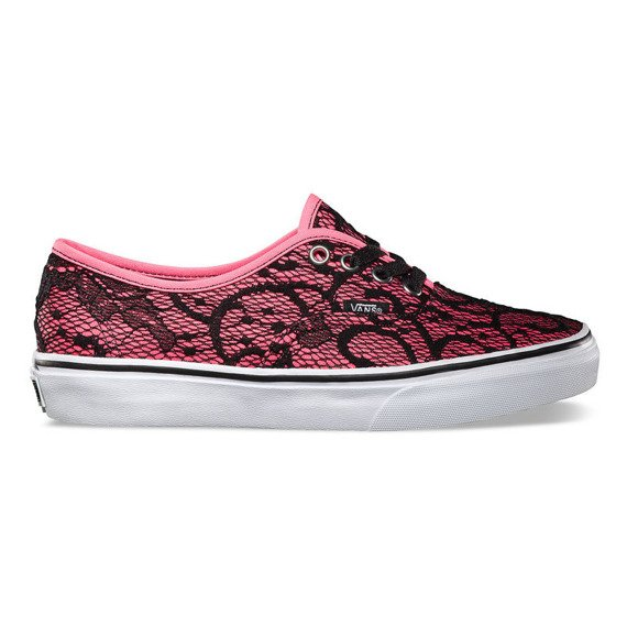 trampki damskie VANS - AUTHENTIC LACE NEON PINK